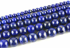5-40Pc Lapis Lazuli Natural Gemstone Round Loose Spacer Bead 4-12mm Hole 1-1.5mm