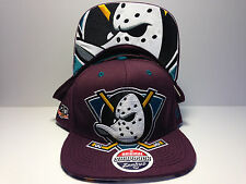 Anaheim Mighty Ducks Zephyr Menace Flat Bill Snapback Hat NHL Baseball Cap Plum