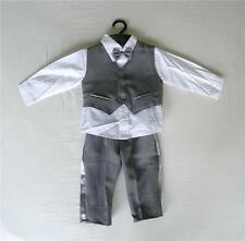 BABY BOY OUTFIT, Dark Grey Special Occasion Suit, Wedding,Christening, Age 0-3