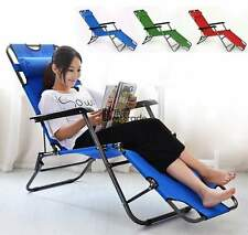 Reclining Recliner Camping Outdoor Lounge Chair Patio Pool Folding Chairs