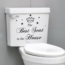 The Best Seat  In The House Quote Toilet Bathroom Stickers, Funny Toilet Decals