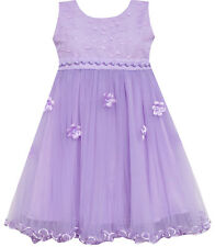 Girls Dress Lace Bodice Hi Lo Maxi Dress With Beading Purple Size 4-12