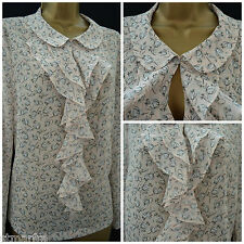 NEW LAURA ASHLEY TOP TUNIC BLOUSE CHIFFON PINK WHITE BLACK FLORAL DITSY 8 - 20