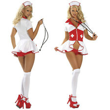 Adult Women White Nurse Doctor Costume Halloween Outfit Hot & Sexy Fancy Dress