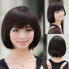 NEW Sexy Fashion short brown / black straight Women's bob cosplay wig + wigs cap