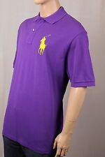 Ralph Lauren Purple Classic Fit Big Yellow Pony Polo NWT