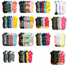 12 pairs Wholesale Lot Socks Women Mixed Assorted Colors Ankle/quarter 6-8 9-11