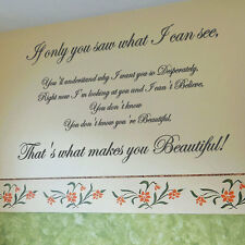 ONE DIRECTION BEAUTIFUL Song Lyrics Art  Wall Quote Stickers, Wall Decals bn