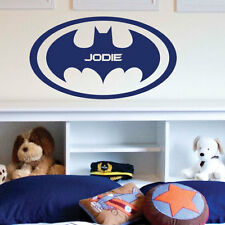 Personalrised Name Batman Logo Children Art Wall Stickers Wall Decals  bn