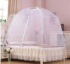White Hight QC Bed Canopy Mosquito Net Tent  For Twin Queen Small King Bed Size