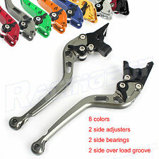CNC 2 Side Adjustable Long Clutch Brake Levers For Buell  2008 2009 1125R 1125CR