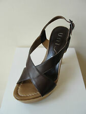 """Fabulous Unisa """"Quill"""", brown leather platform sandals,  RRP £105.00,  BNWB"""