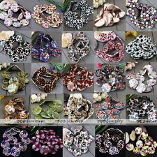Strand 30mm Mother Of Pearl MOP Shell Flower Flat Coin Round Loose Finding Beads