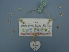 Personalised TEACHING ASSISTANT Thank you Vintage Style Plaque leaving present