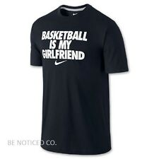 NWT Nike Dri-FIt SGX Basketball Is My Girlfriend Men's T-Shirt XL Black White
