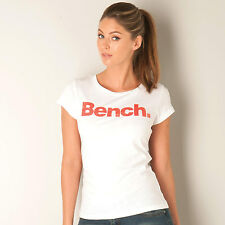 Womens Bench New Deck T-Shirt In White A Girl Can Never Have Too Many T-Shirts