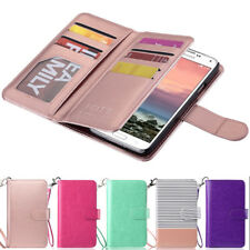 Luxury Magnetic Flip Leather Card Cover Case Wallet For Samsung Galaxy S5 i9600