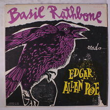"BASIL RATHBONE: Reads Edgar Allan Poe, Vol. 1 LP (small writing on cover, 4"" sp"