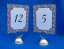 12 Wedding Rectangle Floral Damask Table Number Cards 4x5 inches