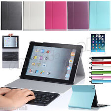 Removable Keyboard Flip Cover  Magnetic Stand Smart Leather Case For Apple iPad
