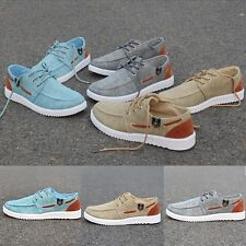 Male New Canvas Running Sports Shoes Lace Up Sneakers England Comfy Skateboard