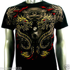 Artful Couture T-Shirt M L XL XXL Dragon Kirin Legend Tattoo Rock bmx Biker AB70