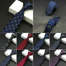 Classic Solid Color Tie Plain Men's Silk Necktie Tie Slim Skinny Jacquard Woven