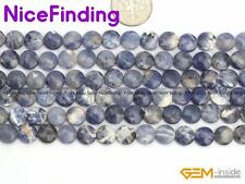 """8mm Coin Natural Gemstone Beads For Jewelry Making Loose Bead 15"""" Assorted Stone"""