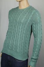 Polo Ralph Lauren Green Crewneck Silk Linen Sweater NWT $145