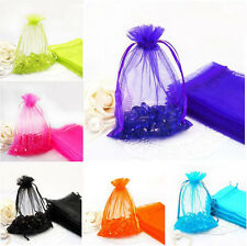 100Pcs Organza Jewelery Packing Pouches Wedding Party Favour Candy Gift Bags