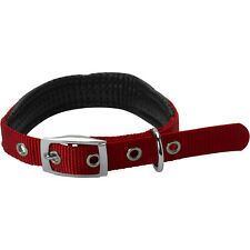 Petface Dog / Puppy Adjustable Collar with Nylon Padding Durable Comfort Red