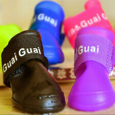Colorful Dog Boots Rubber Water Protective Pet Shoes Booties Waterproof Rain