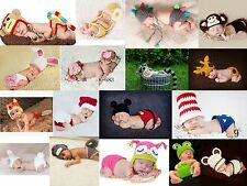 Newborn Baby Crochet Knit Hat Shorts Set Photography Photo Props Cosplay Costume