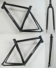 Heli-Bikes Track Pista Fasten Fixed Gear Bike Frame black NEW 21.3in + Fork