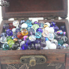 Jewelry Making Beads Crystal Glass Mixed Rondelle Faceted Spacer Craft 100 Pcs