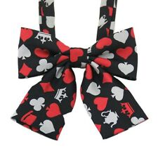 New Poker Pattern Student Uniforms Bowknot Neckties Girls Boys Bowties