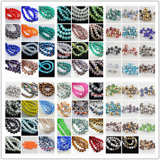 Wholesale 50Pcs 8x6mm Faceted Glass Loose Beads Spacer Rondelle Finding 135Color