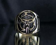 BRONZE SCIENCE FICTION RING WITH MANDALOREAN COAT OF ARMS SEAL ANTIQUED