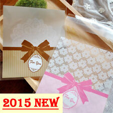 Lace Bowknot Cello Cellophane Wedding Party Favour Sweet Candy Gift Craft Bags