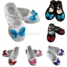 Toddler Girl Soft Ballet Dancing Shoes Butterfly Pointe Gymnastics Slippers J81