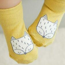 Cartoon Newborn Cotton Fox Printed Anti-slip Knee Socks Kids Baby Stockings 0-4T