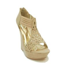 New! Madden Girl Suede Like Wedge Sandals Platform PANTUM Women's Shoes