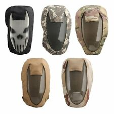 Airsoft Paintball Tactical Steel Mesh Full Face Protect Skull Mask BB Gun Game