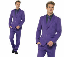 Mens Stand Out Suits Stag Do Party New Purple Funny Fancy Dress Costume