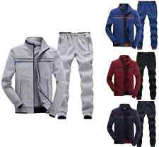 Fashion Men's Long Sleeve Athletic Apparel Tracksuit Sports Warm Jacket & Pants