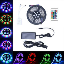 5M 300 LED RGB Strip Light 3528 5050 SMD Flexible 44key Remote 12V Power US