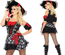 BUCCANEER CARIBBEAN LADIES PIRATE COSTUME OUTFIT FANCY WOMENS DRESS PARTY