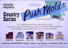 AMACO Polymer Clay Molds - HOUSE & CHURCH FRONTS - CHOOSE YOUR STYLE!  NEW