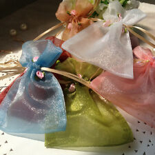 Rose Organza Wedding Favour Bags Boxes Table Decoraion Gift Jewellery Bags Pouch
