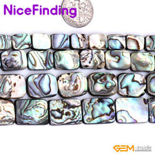 "Rectangle Natural Abalone Shell Loose Beads For Jewelry Making Gemstone 15"" DIY"